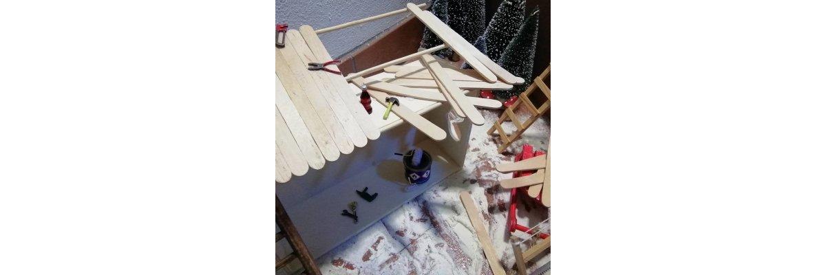 Eine Elfenbude entsteht - Elfentür Feeentür Zaubertür Tür für Elfen Weihnachtself Vorweihnachtszeit