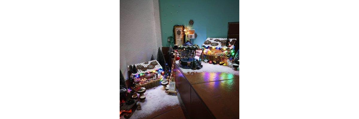 Elfen Weihnachtsmarkt  - Elfentür Feeentür Zaubertür Tür für Elfen Weihnachtself Vorweihnachtszeit