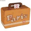 Pappmaché Box Koffer Spardose Pappmache Reisekasse...