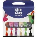 6  creamy Silk Clay - Set  Modelliermasse leuchtend bunte...