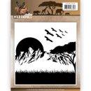 Embossing Folder - Amy Design - Wild Animals Kulisse...