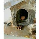 Polyresin Deko Miniatur Backhaus Backofen Krippen Haus...