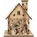 Holz Winterhaus Haus Minigarten Weihnachtshaus...