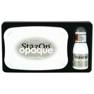 StazOn Opaque Stempelkissen geeignet für Kunststoff, Glas, Keramik Metall usw