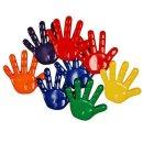 Motivknopf Hand Hände 8 Stück geprägt, 3D...