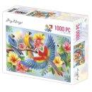 Amy Design Puzzle 1000 Teile parrots Papagei auf...