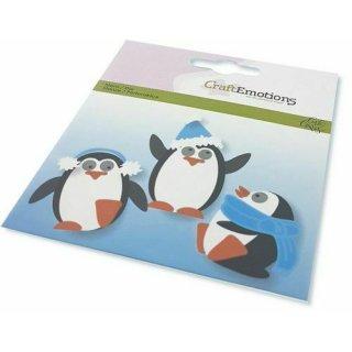 Craft Emotions Stanzschablone für Stanzmaschine Pinguin mit Mütze Schal