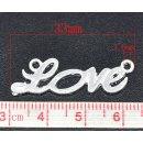 """2 Stück silber Schriftzug  """"Love """" Amor..."""